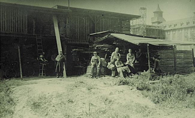1938: Wallburger Holzlager